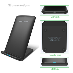 Ugreen bezprzewodowa ładowarka qi stojak na iphone'a 11 Pro X XS 8 XR Samsung S9 S10 S8 S10E szybka bezprzewodowa stacja ładująca ładowarka do telefonu