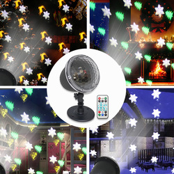 Led Projection Lamp Christmas Party Theme Series Remote Control Holiday Atmosphere Lighting 4Modes SnowflakesTrees Bells Elk