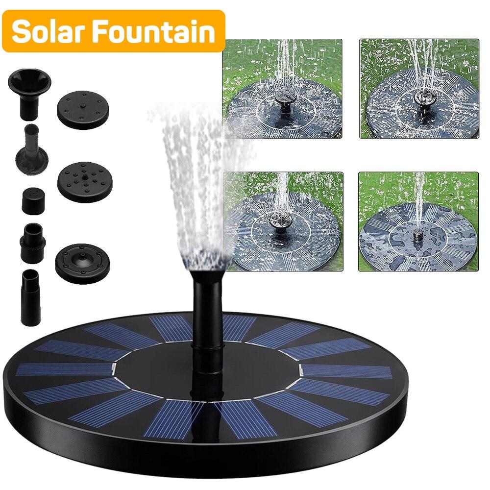 Плавающий садовый фонтан на солнечной батарее, водопад, фонтан, бассейн, пруд, птичья ванна, питание от солнечной панели, насос для воды, укра...