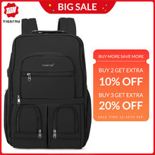 2019 New RFID Upgraded Anti theft Zippers Waterproof Laptop Men Backpack With USB Charging Large Capacity Travel Bag Male Female(China)