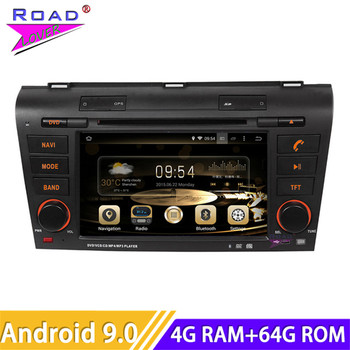 Roadlover Android 9.0 Car DVD Player Autoradio For Mazda 3 (2004 2005 2006 2007 2008 2009) Stereo GPS Navigation Magnitol 2 Din image