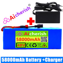 48V Lithium Ion Battery Lithium Ion Battery Pack 48V 58ah 1000w 13S3P Scooter Electric Bicycle Battery Bateria 48v 21 - 30ah 2kg
