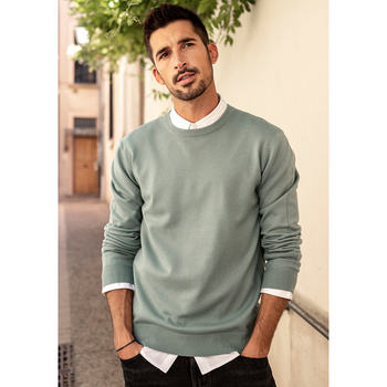 KUEGOU Autumn winter clothing  Solid color Men's sweater stretch Couple pullovers fashion warm sweaters top plus size YYZ-2209 15