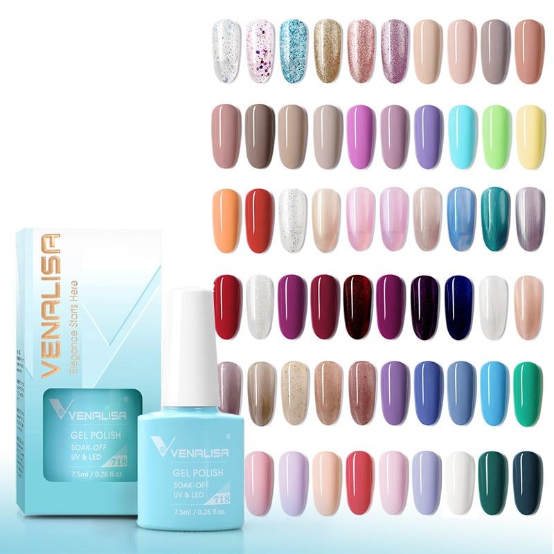 Venalisa 7.5ml Gel Nail Polish Canni Nail Supply Wholesale Soak Off UV LED Gel Lacquer Nail Art Glitter Polish Long Lasting Gel 4