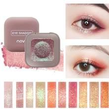 Novo pigmento sombra de olho com glitter, de longa duração, única, para ponta do dedo, nova tendência, cor, maquiagem metálica, à prova d' água
