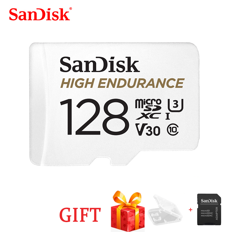 SanDisk haute Endurance surveillance vidéo 32GB 64GB 128GB 256GB carte MicroSD SDHC/SDXC Class10 40 mo/s carte TF pour la surveillance vidéo