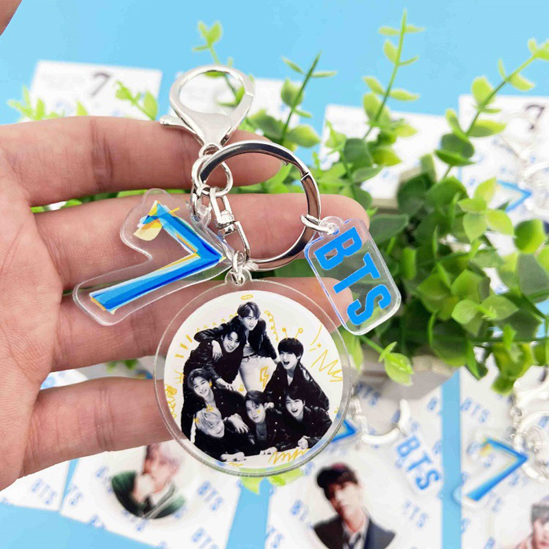 KPOP Bangtan Boys Keychain Love MAP OF THE SOUL : 7 Album Chains Keyring Accessories Acrylic Key Ring Jewelry Gifts for Fans(China)