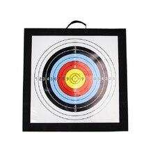 Alvo de tiro com arco eva 50*50cm equipamento de alvo ao ar livre para arco seta