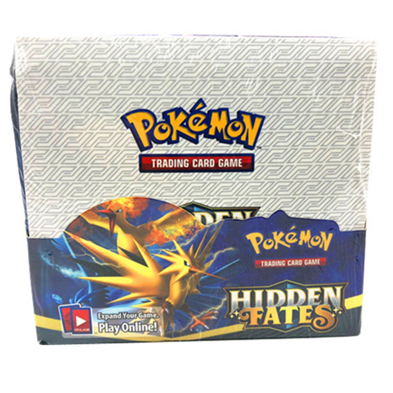 324pcs Pokemones Cards Hidden Fates  Edition In English Version Booster Box Collectible Trading Cards Game For Kids