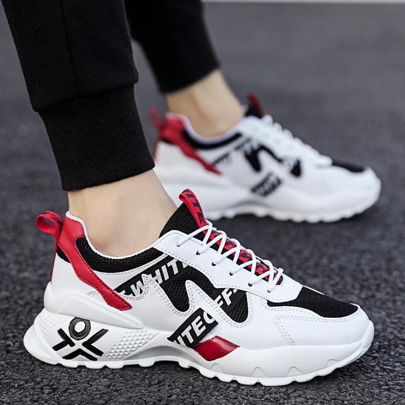 2020 Casual Shoes Men Sneakers  Lace-up Mesh Shoes For Men Breathable Comfortable Fashion Flat Men Shoes Tide Non-slip Hot Sale