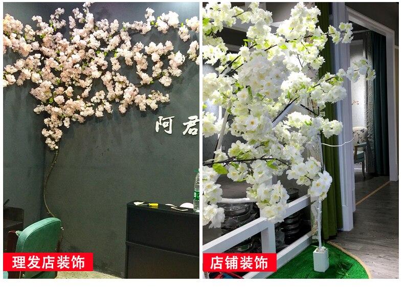Nieuwe Bloesems Landschapsarchitectuur Set Kunstmatige Grote Indoor Decoratie Voor Thuis Bruiloft Woonkamer Muur Bloem Plant Decoratieve - 3