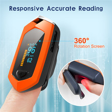 Family Oximeter Finger Digital Oximeters OLED PR SPO2 Blood Monitors Chargeable Equipment Oxygen Saturation Rate Monitor Counte