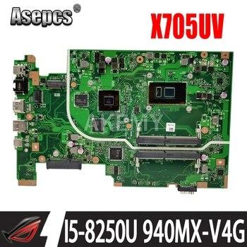 Akemy X705UV Motherboard For ASUS X705UDR X705UQ X705UV X705UB X705UD X705U X705UVR Laotop Mainboard i5-8250U CPU 940MX GPU