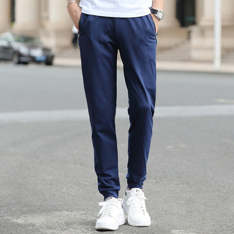 Hot Selling 2019 New Style Korean-style Fashion Man Slim Fit Versitile Fashion Men's Youth Casual Pants Four Seasons Trousers