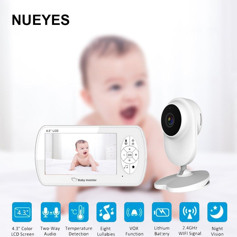 4.3 pouces vidéo bébé moniteur caméra bidirectionnelle Audio bébé sécurité Babyphone Vision nocturne température bébé-Cam Surveillance vidéo