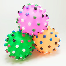 Interactive Ball Shaped Pet Supplies Sound Making Bite Resistant Non Toxic Squeaky Funny Training Teeth Chew Dog Toy(China)