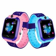 Wodoodporne dzieci Q12 inteligentny zegarek SOS zegarek Smart anti-lost zegar dziecięcy otrzymać telefon zwrotny od monitor lokalizacji lokalizator zegarek nie telefon na kartę Sim zabawki tanie tanio BADILE CN (pochodzenie) Electric none 2-4 lat 5-7 lat Kids Watch Sport