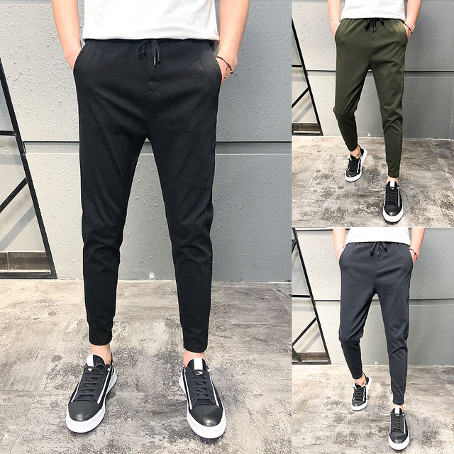 Pantalones Hombre Fashion 2020 New Spring Streetwear Joggers Men Slim Fit All Match Solid Casual Pants Men Drawstring Trousers 3