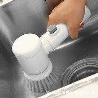 Escova mágica casa lavagem de louça banheira escova de limpeza elétrica banheira escova de banheiro
