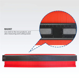 Image 3 - ASCEBDAS 10 Inch/250mm Contour Profile Gauge Tiling Laminate Tiles Edge Shaping Wood Measure Ruler