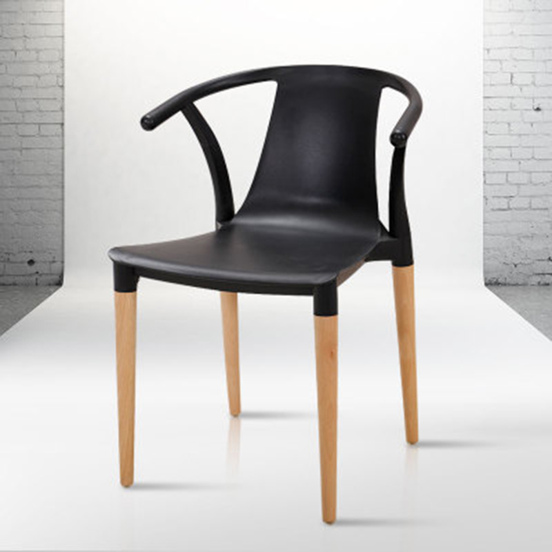 Nordic INS Solid Wood Plastic Dining Chair Dining Room Dining Chair Modern Home Bedroom Study Restaurant Coffee Plastic Chair