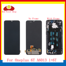 ORIGINAL For Oneplus 6T 1+6T LCD Display Touch Screen Digitizer Assembly Complete With Frame One plus 6T A6013 Replacement OEM black lcd display touch digitizer screen assembly frame for oneplus one plus 1 original quality