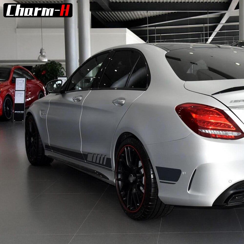 KK Car Body Sticker Decal For Mercedes Benz AMG C63 CLA GLE GLA A C E Class A45