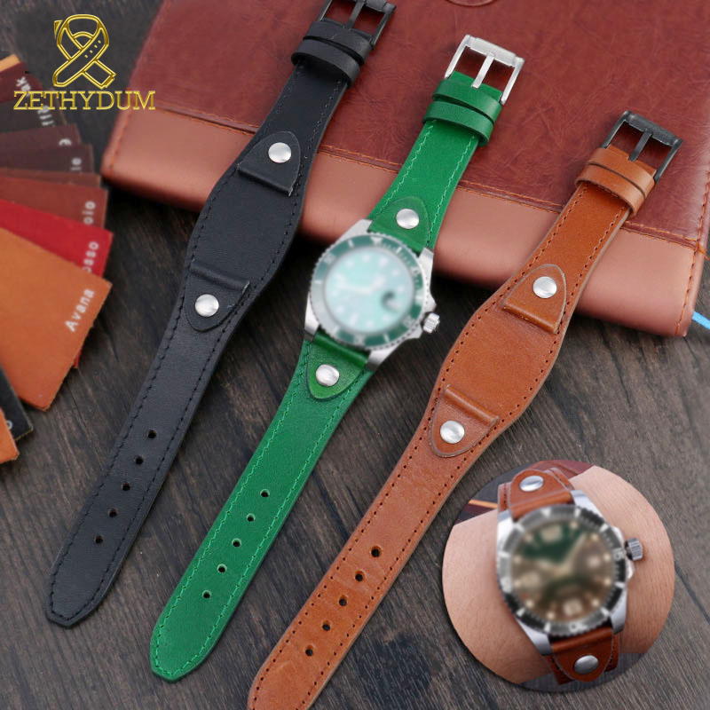 genuine-leather-watchband-20mm-22mm-strap-With-mat-for-f-ossil-R-olex-S-eiko-Mi (6)