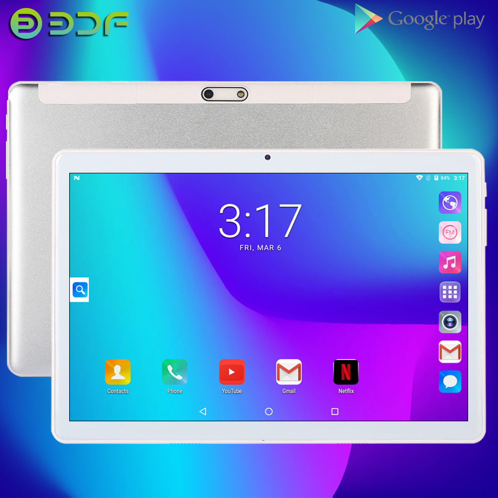 Tablet 10.1 Inch Android 7.0 3G Dual SIM Card Phone Call Google Play GPS 10 Tab Kids Tablets IPS Screen Pc