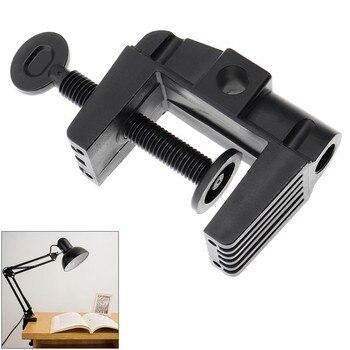 Soporte de abrazadera para lámpara de mesa soporte de plástico con micrófono...