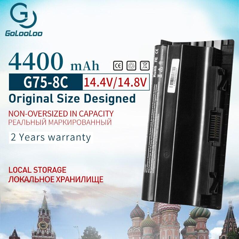 14.4V 4400mAh 8 Cells Laptop Battery For Asus G75 G75VW G75V3D G75V G75VX G75VM3D G75VM G753D G75VW3D
