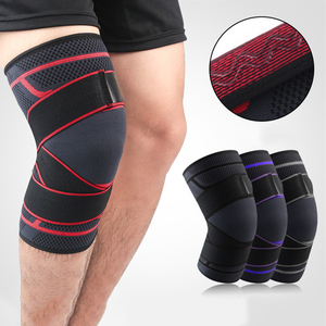 1Pcs Dual-use Pressurized Knee Support Sports Elastic Wrap Crossfit Fitness Running Basketball Volleyball Cycling Brace Guard
