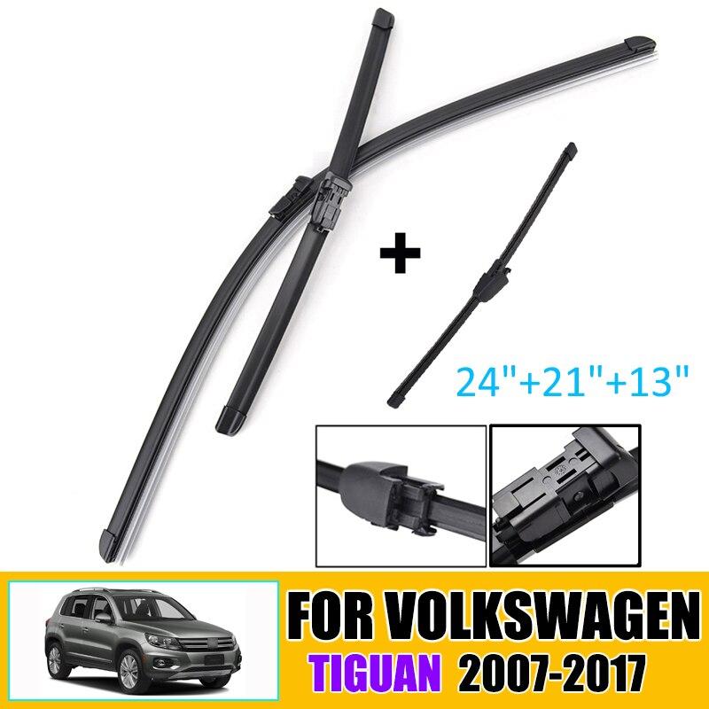 Front & Rear Wiper Blades Set For VW Tiguan MK1 2007-2017 Windshield Windscreen Window 24