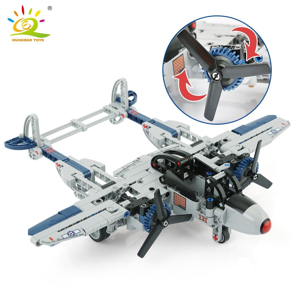 330 pièces WW2 US foudre P-38 combattant Amry bloc de Construction Legoing avion militaire technique briques Construction jouet pour enfants