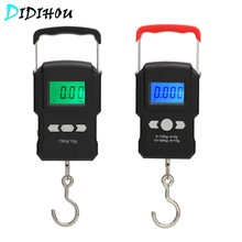 Digital Fishing Scale for Luggage Travel Weighting Hanging 75kg/10g Electronic Hook Scale Weight Tool LCD Backlight(China)