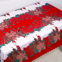 New Christmas Polyester Printed Tablecloth Year Table Covers Anti-fouling Santa Decorations 150x180cm
