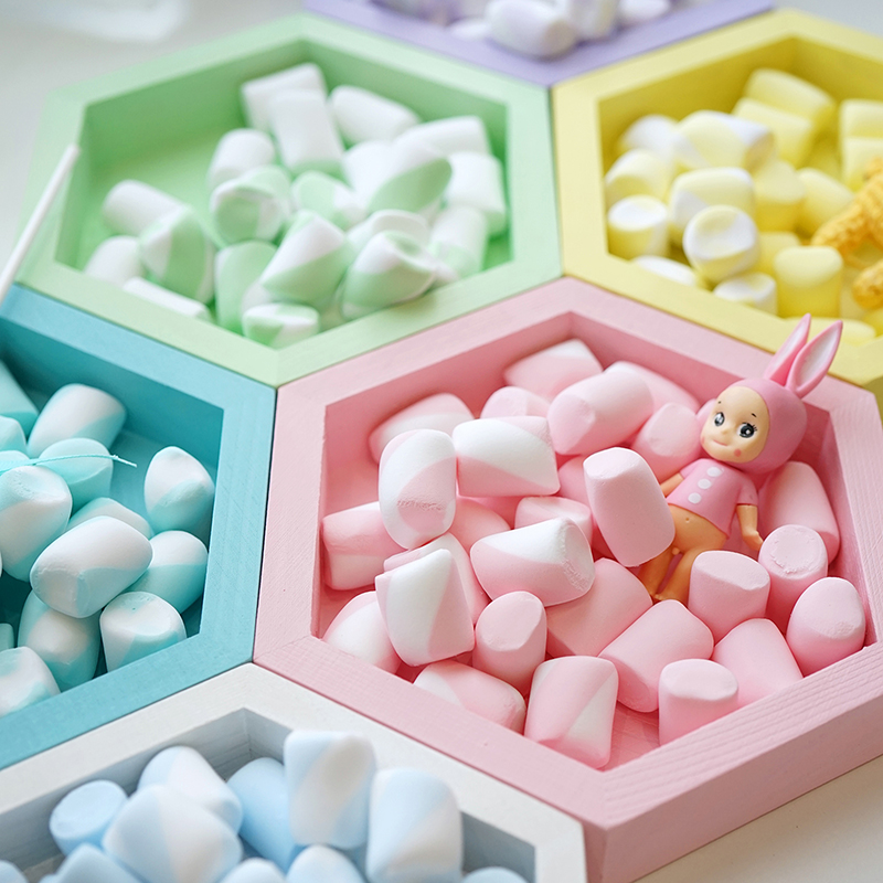 YUYU 10pcs Simulation Marshmallow Props Fake Marshmallows Kindergarten Rings Decoration Children's Photography Props Decorations