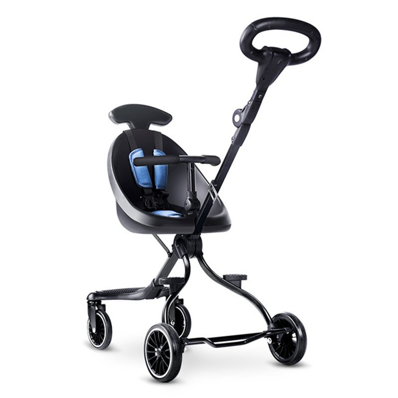 Walking baby artifact walking baby ultra-light foldable children's two-way trolley baby high landscape stroller