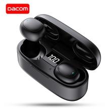 DACOM U7 TWS gerçek kablosuz kulakiçi Bluetooth kulaklık Mic ile Mini kulak eller serbest kulaklık için iPhone samsung Huawei