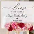 Виниловая наклейка с надписью на свадьбу