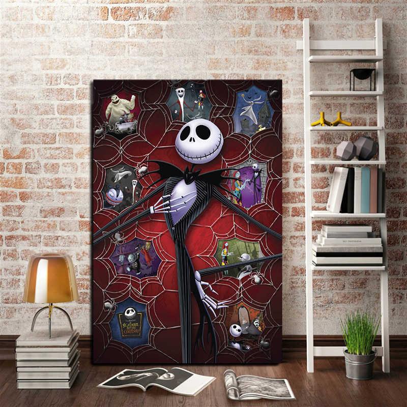 Kabus Önce Noel Film Sanat Tuval Poster Boyama Duvar Resmi Baskı Modern Mutfak Ev Yatak Odası Dekorasyon Sanat HD