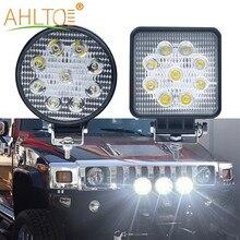 1X 27W 42W 48W Mini lumière de travail voiture projecteur lampe DC12V travail ampoules 4X4 ATV tout-terrain camions tracteur nuit brouillard led voiture style