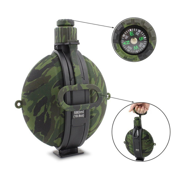 Outdoor Military Water Bottle Silicone Large Capacity Folding Water Kettle Hiking Camping Leak Proof Tour Water Bottle 2