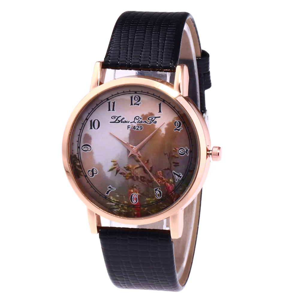 Retro Style Couple Watches Leather Watch Band Round Dial Fashion Quartz Watches Students Casual Watches  LXH