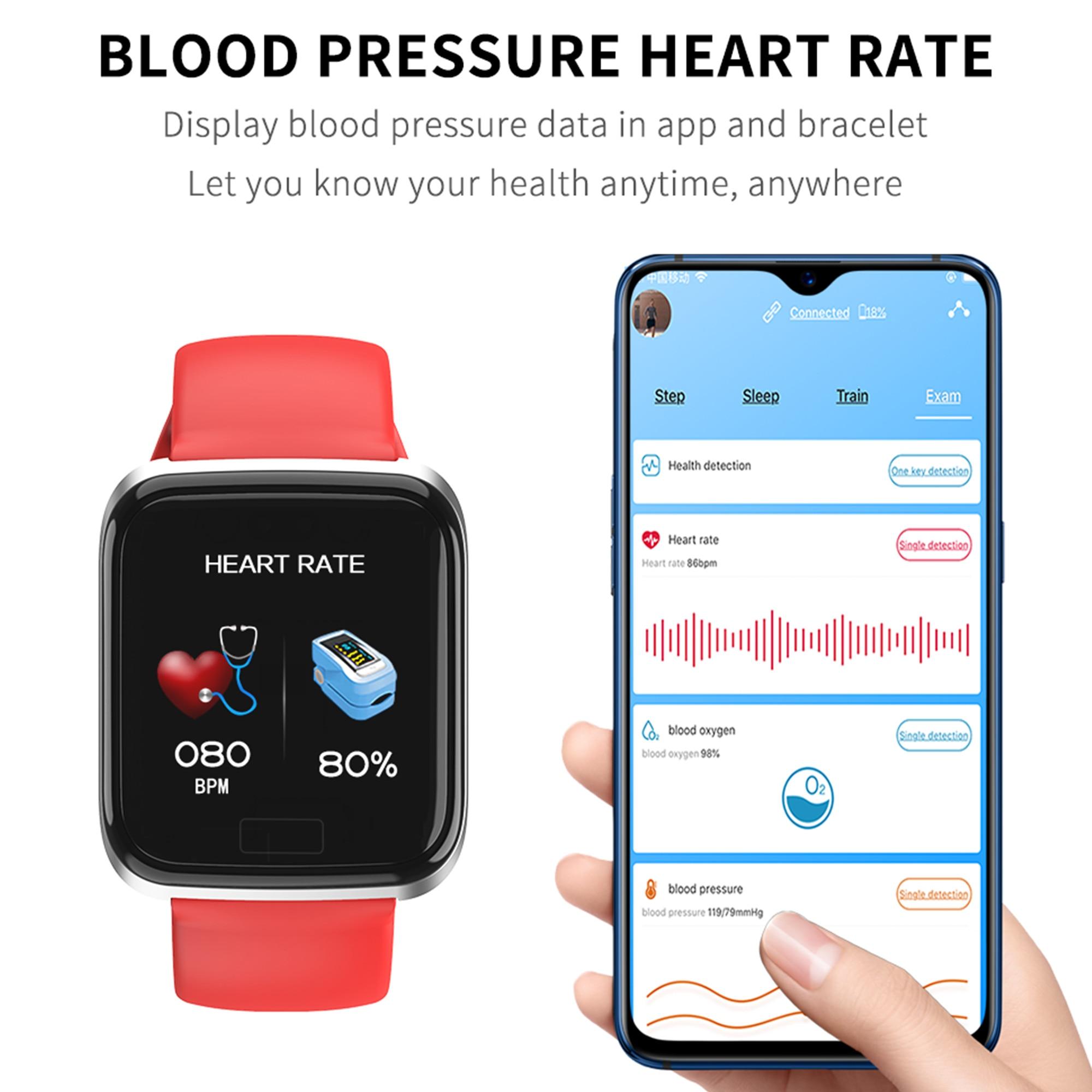 Smart Watch Men Women Smart Band Blood Pressure reminder Smartband Sport Smart Bracelet Health Wristband Fitness Tracker PK B57
