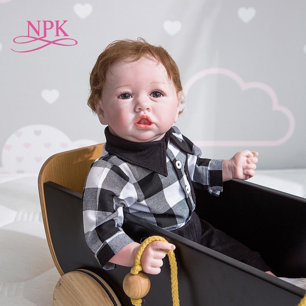 NPK 55CM Bebe Puppe Reborn Saskia Beliebte Baby Puppe Lebensechte Weiche Touch Hand Detaillierte Malerei Sammeln Handgemachte Baby