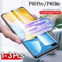 1-3 pz, pellicola hydrogel per Huawei P40 Pro pellicola salvaschermo P 40 lite Huawei P40 vetro morbido P40 Pro 100D pellicola Huawei-P40Pro