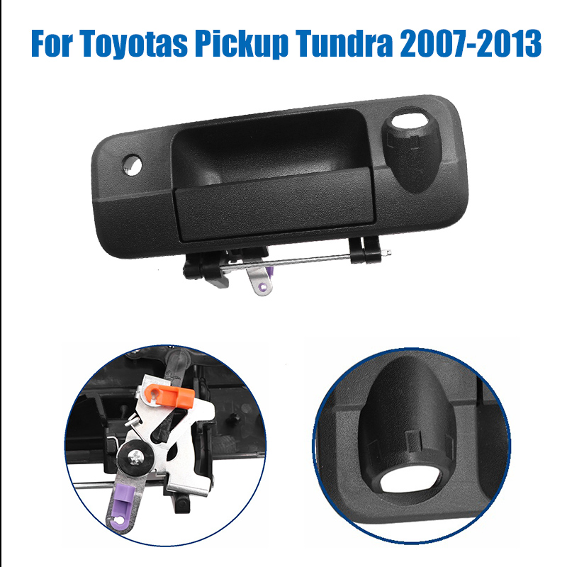 69090-0C051 690900C051 New Style Outer Rear Tailgate Handle W/Rear Camera Hole For Toyotas Pickup Tundra 2007-2013 Texture Black