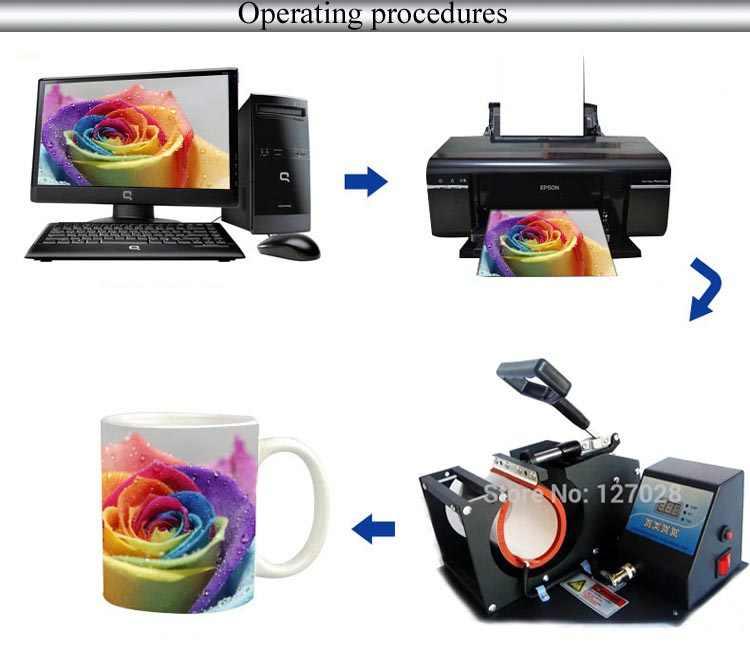 Wtsfwf taşınabilir kupa ısı basın yazıcı makinesi 2D kupa süblimasyon makinesi kupa basın makinesi