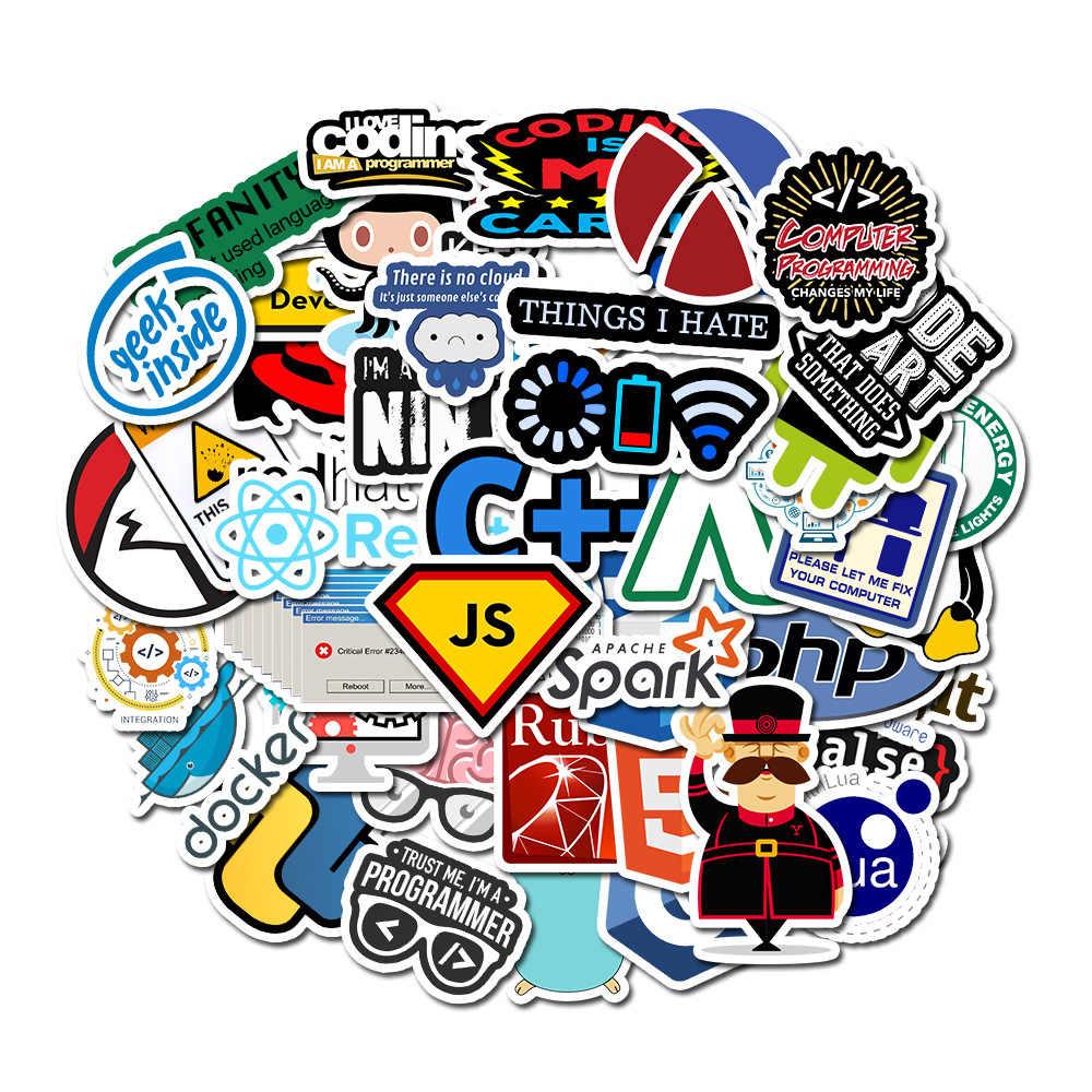 50 個のプログラミングステッカー技術ソフトウェアプログラムデータオタクのためのラップトップのステッカーdiyノートパソコンの荷物のPS4